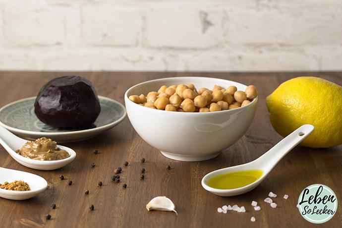 Rote Bete Hummus Zutaten